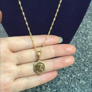 """Jewelry - New 18K gold """" Z """" letter necklace"""